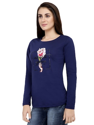 graphic print long sleeved tee - 15726860 - Standard Image - 2
