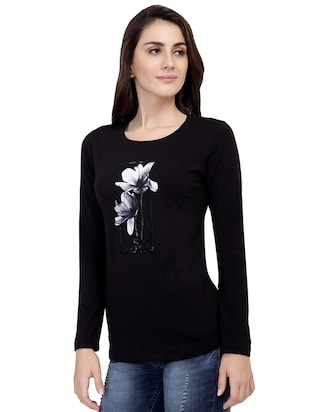 Graphic Print Long Sleeved Tee - 15726929 - Standard Image - 2