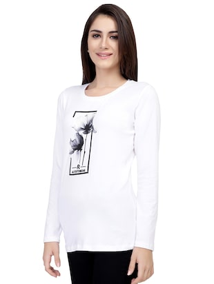 Graphic Print Long Sleeved Tee - 15726936 - Standard Image - 2