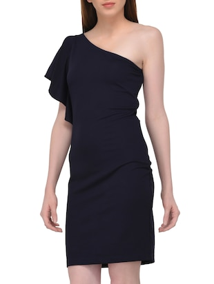 single shoulder sheath dress - 15727287 - Standard Image - 2
