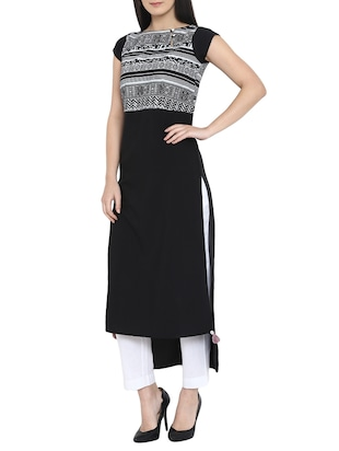 High low printed kurta - 15727448 - Standard Image - 2