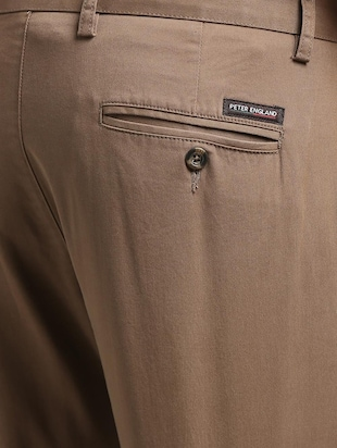 brown cotton blend chinos - 15727695 - Standard Image - 5