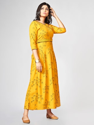 A-line printed dress - 15727815 - Standard Image - 2