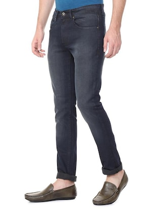 grey cotton blend washed jeans - 15728259 - Standard Image - 2
