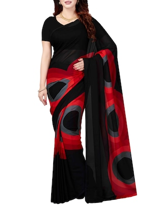 Combo Of 2 Multicolor Printed Saree with blouse - 15728697 - Standard Image - 2