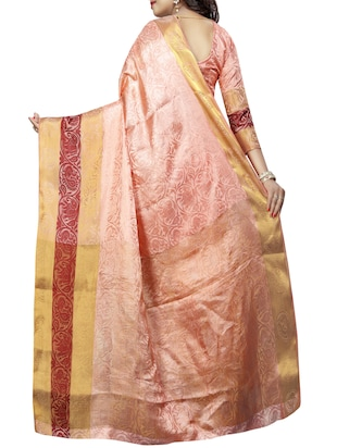 conversational zari motif banarasi saree with blouse - 15728876 - Standard Image - 2