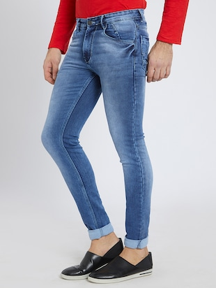blue denim washed jeans - 15729565 - Standard Image - 2