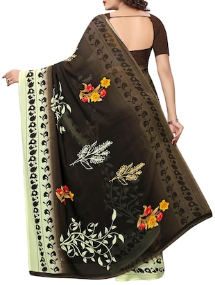 floral printed saree with blouse - 15729573 - Standard Image - 2