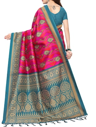geometrical printed saree with blouse - 15729583 - Standard Image - 2