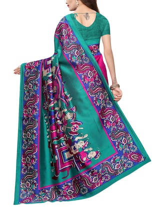 kalamkari printed saree with blouse - 15729610 - Standard Image - 2