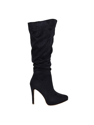 navy knee length  boots - 15729811 - Standard Image - 2