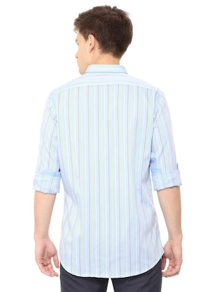 blue cotton casual shirt - 15729829 - Standard Image - 2