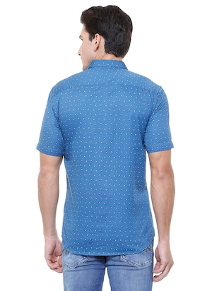 blue cotton casual shirt - 15729840 - Standard Image - 2