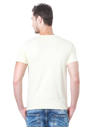 white cotton chest print t-shirt - 15729920 - Standard Image - 2