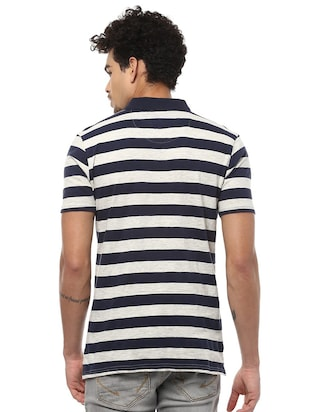 navy blue cotton polo t-shirt - 15729939 - Standard Image - 2