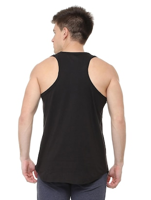 black cotton vest - 15729993 - Standard Image - 2