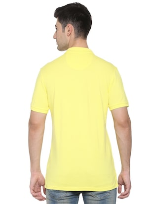 yellow cotton pocket t-shirt - 15729997 - Standard Image - 2