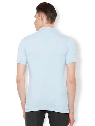blue cotton polo t-shirt - 15730012 - Standard Image - 2