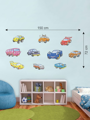 Wall Decals ' Toy Car Colour Decals ' Wall stickers (PVC Vinyl) - 15730213 - Standard Image - 2