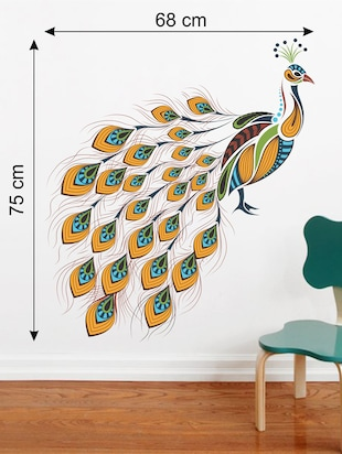 Wall Decals ' Peacock '  Wall stickers (PVC Vinyl) - 15730224 - Standard Image - 2