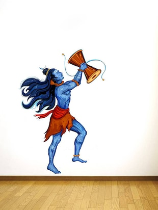 Wall Decals ' Lord shiva with Damru '  Wall stickers (PVC Vinyl) - 15730235 - Standard Image - 2