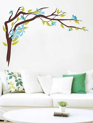 Wall Decals ' Blue Flower Sticker '  Wall stickers (PVC Vinyl) - 15730242 - Standard Image - 2