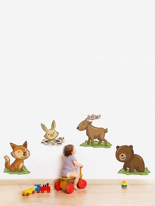 Wall Decals ' Baby Animals Sticker '  Wall stickers (PVC Vinyl) Multicolour - 15730249 - Standard Image - 2