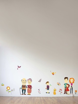 Wall Decals ' A Complete Family '  Wall stickers (PVC Vinyl) - 15730264 - Standard Image - 2