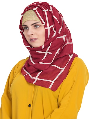 red cotton stole - 15730372 - Standard Image - 2