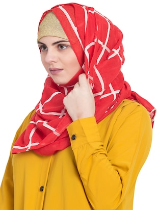 red cotton stole - 15730377 - Standard Image - 2