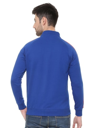 blue polyester casual jacket - 15730867 - Standard Image - 2