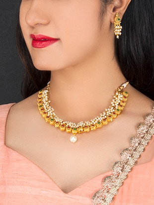 Gold Tone Necklace & Earrings Set - 15731236 - Standard Image - 2