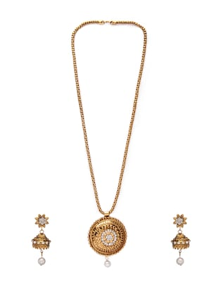 Gold Tone Necklace & Earrings Set - 15731256 - Standard Image - 2