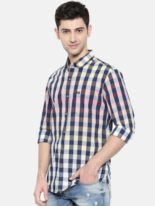 multicolor cotton casual shirt - 15731545 - Standard Image - 2