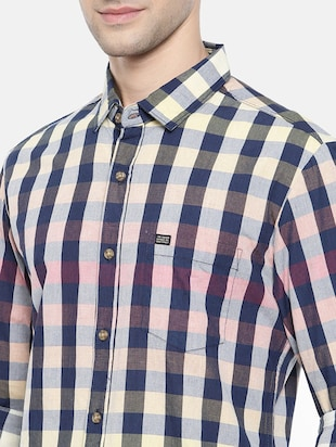 multicolor cotton casual shirt - 15731545 - Standard Image - 5