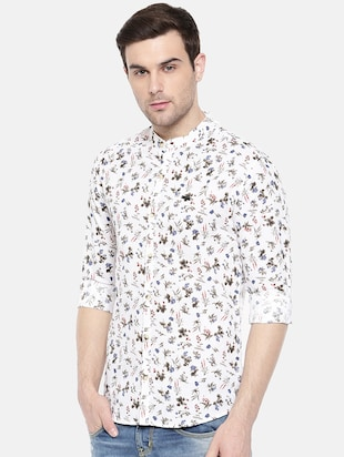 white cotton casual shirt - 15731558 - Standard Image - 2
