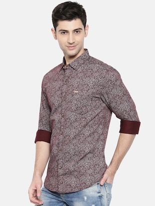 red cotton casual shirt - 15731569 - Standard Image - 2