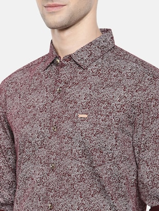 red cotton casual shirt - 15731569 - Standard Image - 5
