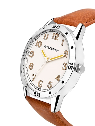 Round dial analog watch (910105WT) - 15731739 - Standard Image - 2
