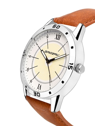 Round dial analog watch (910106WT) - 15731745 - Standard Image - 2