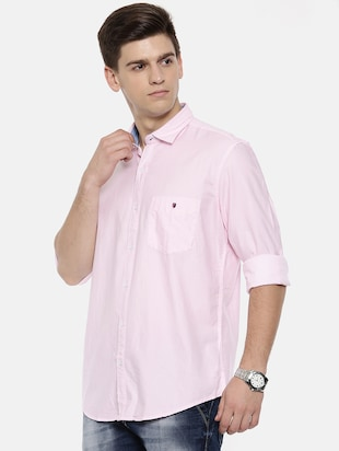 pink cotton casual shirt - 15731804 - Standard Image - 2