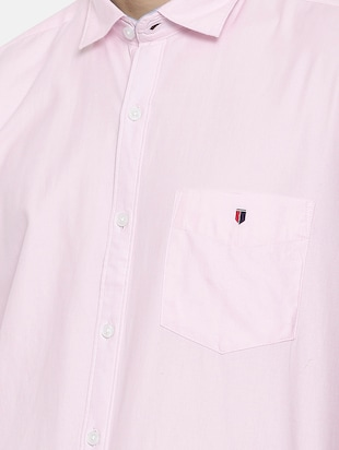 pink cotton casual shirt - 15731804 - Standard Image - 5