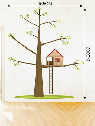 Rawpockets Wall Decals ' Tree House '  Wall stickers (PVC Vinyl) Multicolour - 15733193 - Standard Image - 2