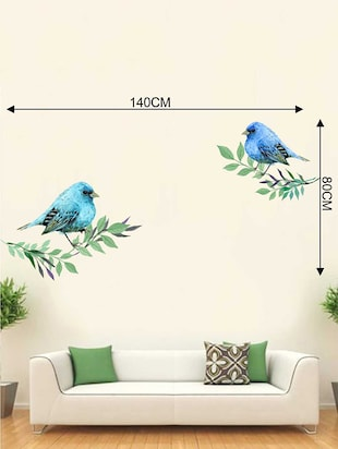 Rawpockets Wall Decals ' Lovely Birds Wall Sticker '  Wall stickers (PVC Vinyl) Multicolour - 15733201 - Standard Image - 2