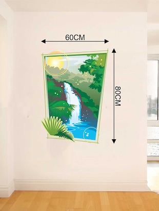 Rawpockets Wall Decals ' Nature Falls Wall Sticker '  Wall stickers (PVC Vinyl) Multicolour - 15733212 - Standard Image - 2