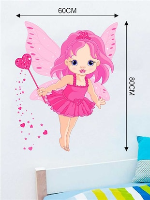 Rawpockets Wall Decals ' Baby Angel Wall Sticker '  Wall stickers (PVC Vinyl) Multicolour - 15733231 - Standard Image - 2