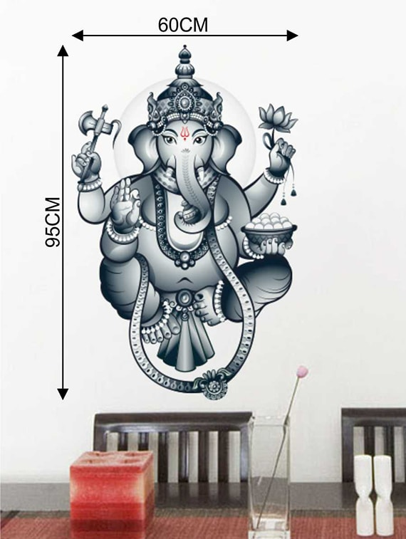 buy rawpockets wall decals ' lord ganesh wall sticker ' wall