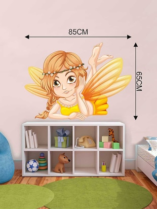 Rawpockets Wall Decals ' Angel Wall Sticker '  Wall stickers (PVC Vinyl) Multicolour - 15733267 - Standard Image - 2