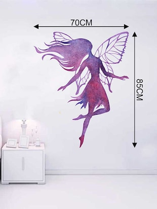 Rawpockets Wall Decals ' Angel in the Air Wall Sticker '  Wall stickers (PVC Vinyl) Multicolour - 15733272 - Standard Image - 2