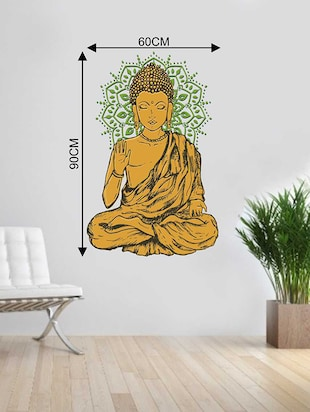 Rawpockets Wall Decals ' Lord Buddha Wall Sticker '  Wall stickers (PVC Vinyl) Multicolour - 15733275 - Standard Image - 2
